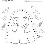 Free Printable Halloween Connect The Dots Worksheet For Kindergarten   Free Printable Halloween Worksheets