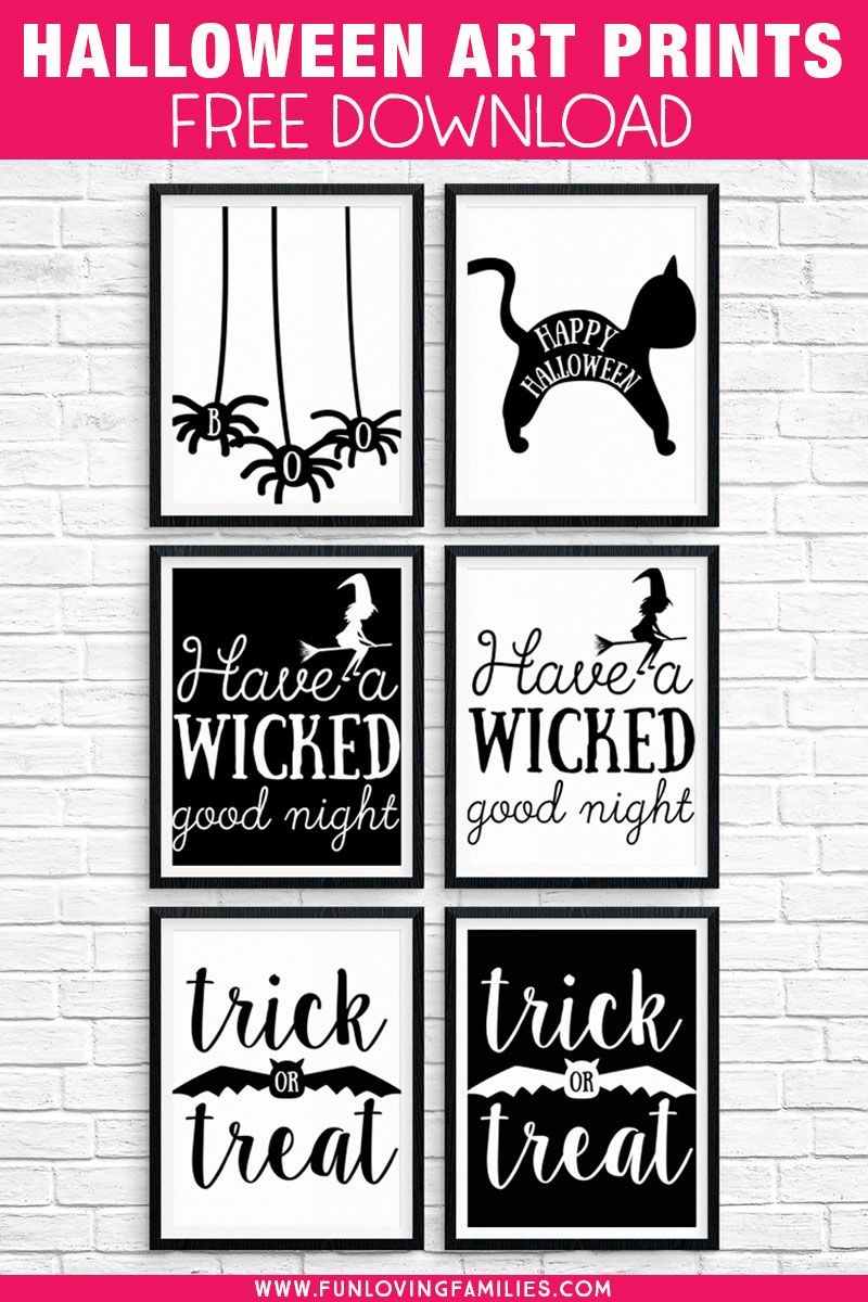 Free Printable Halloween Decorations To Spruce Up Your Holiday - Free Printable Halloween Decorations
