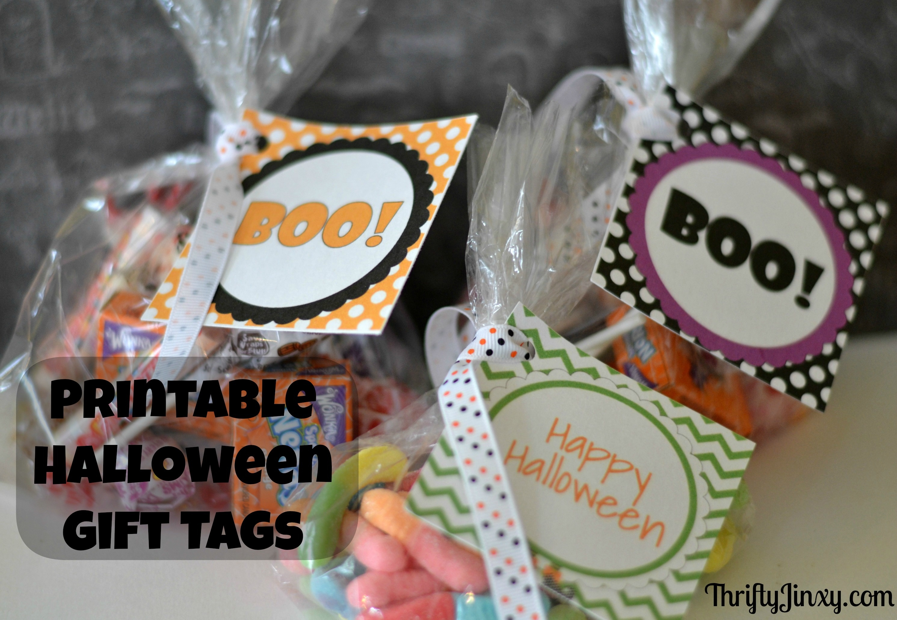 Free Printable Halloween Gift Tags And Treat Bag Tags - Thrifty Jinxy - Free Printable Halloween Labels For Treat Bags
