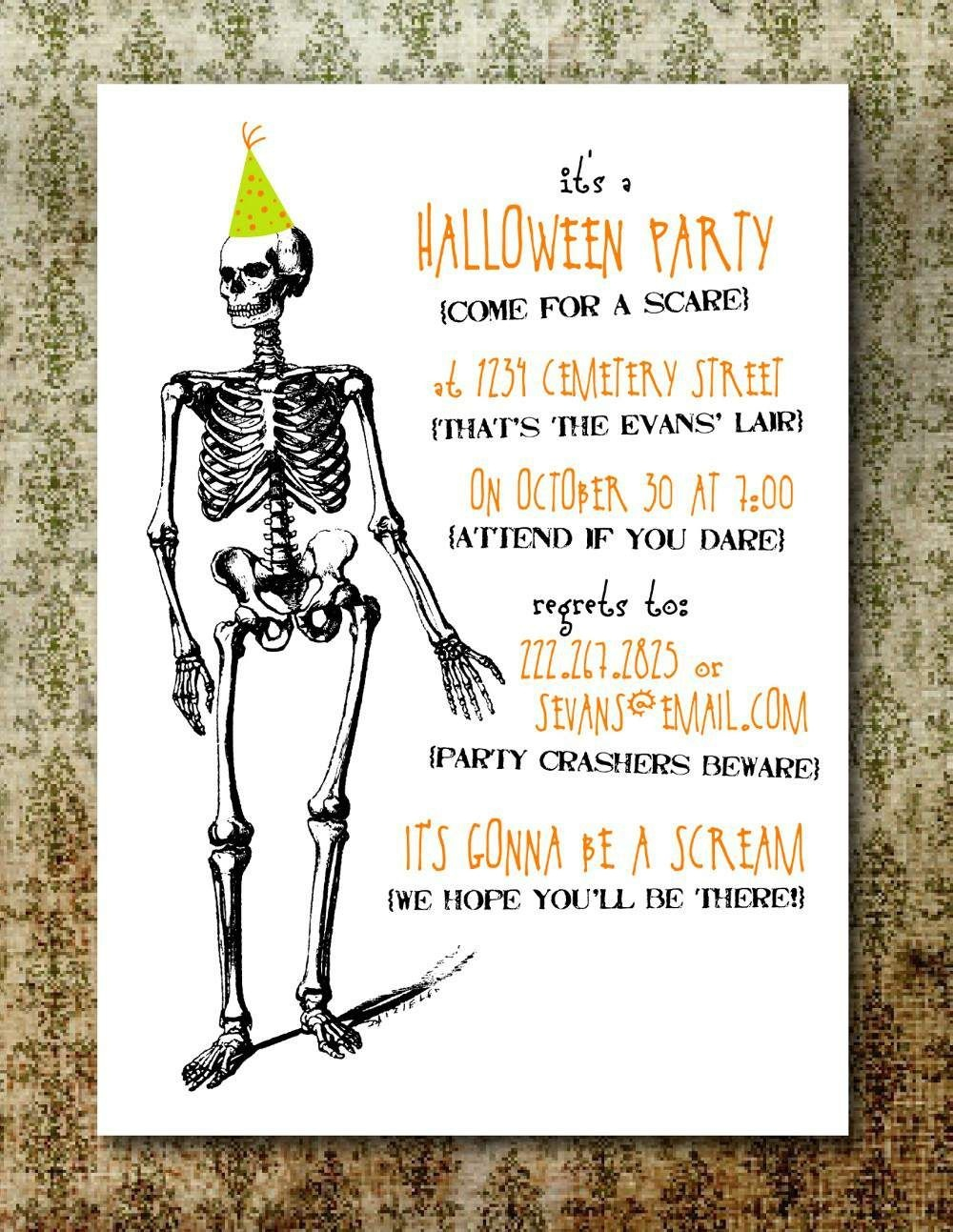 Free Printable Halloween Invitation Templates | Free Printable - Free Printable Halloween Invitations