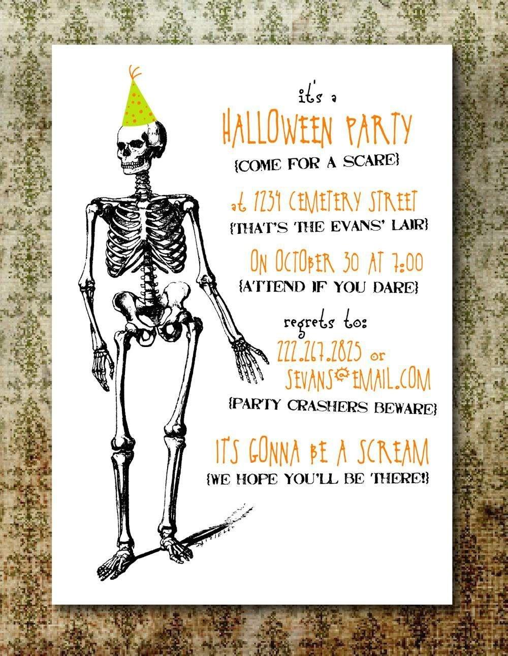 Free Printable Halloween Invitation Templates   Free Printable - Free Printable Halloween Party Invitations