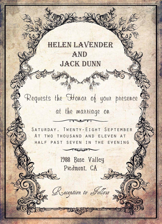 Free Printable Halloween Invitation Templates | Free Printable - Free Printable Halloween Wedding Invitations