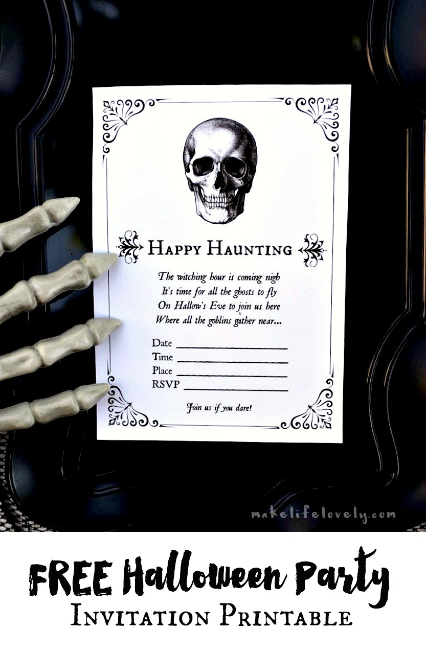 Free Printable Halloween Invitations For Your Spooky Soiree - Free Printable Halloween Party Invitations