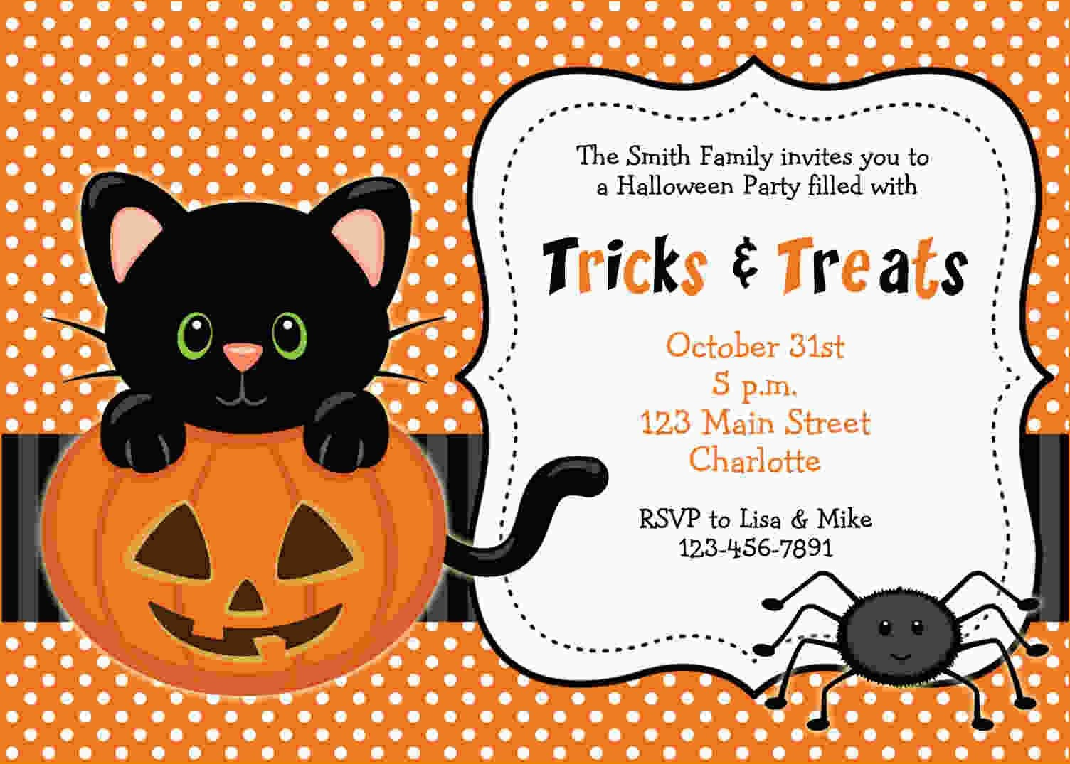 Free Printable Halloween Invitations   Free Printable Birthday - Free Printable Halloween Party Invitations