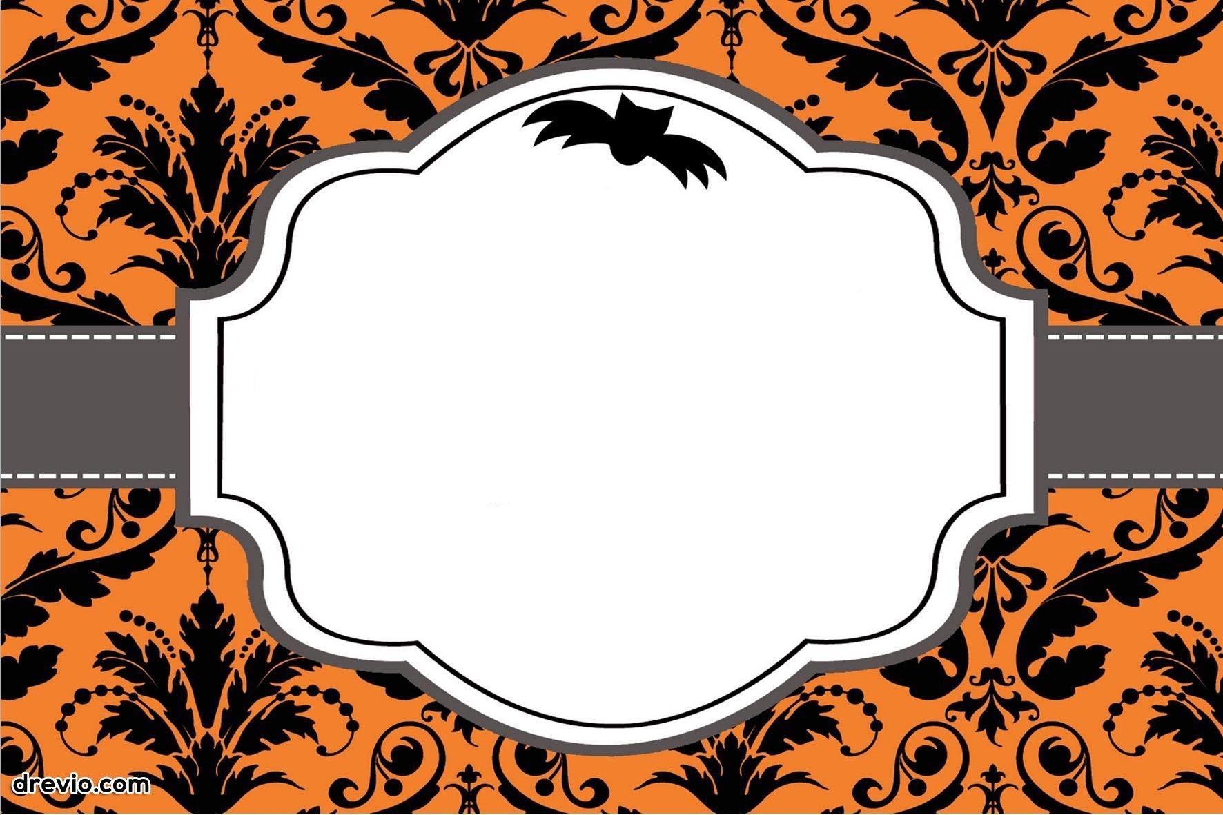 Free Printable Halloween Invitations   Free Printable Birthday - Halloween Party Invitation Templates Free Printable