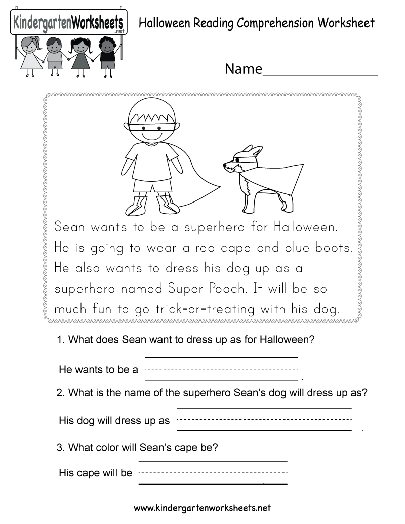 Free Printable Halloween Reading Comprehension Worksheet For - Free Printable Literacy Worksheets For Adults