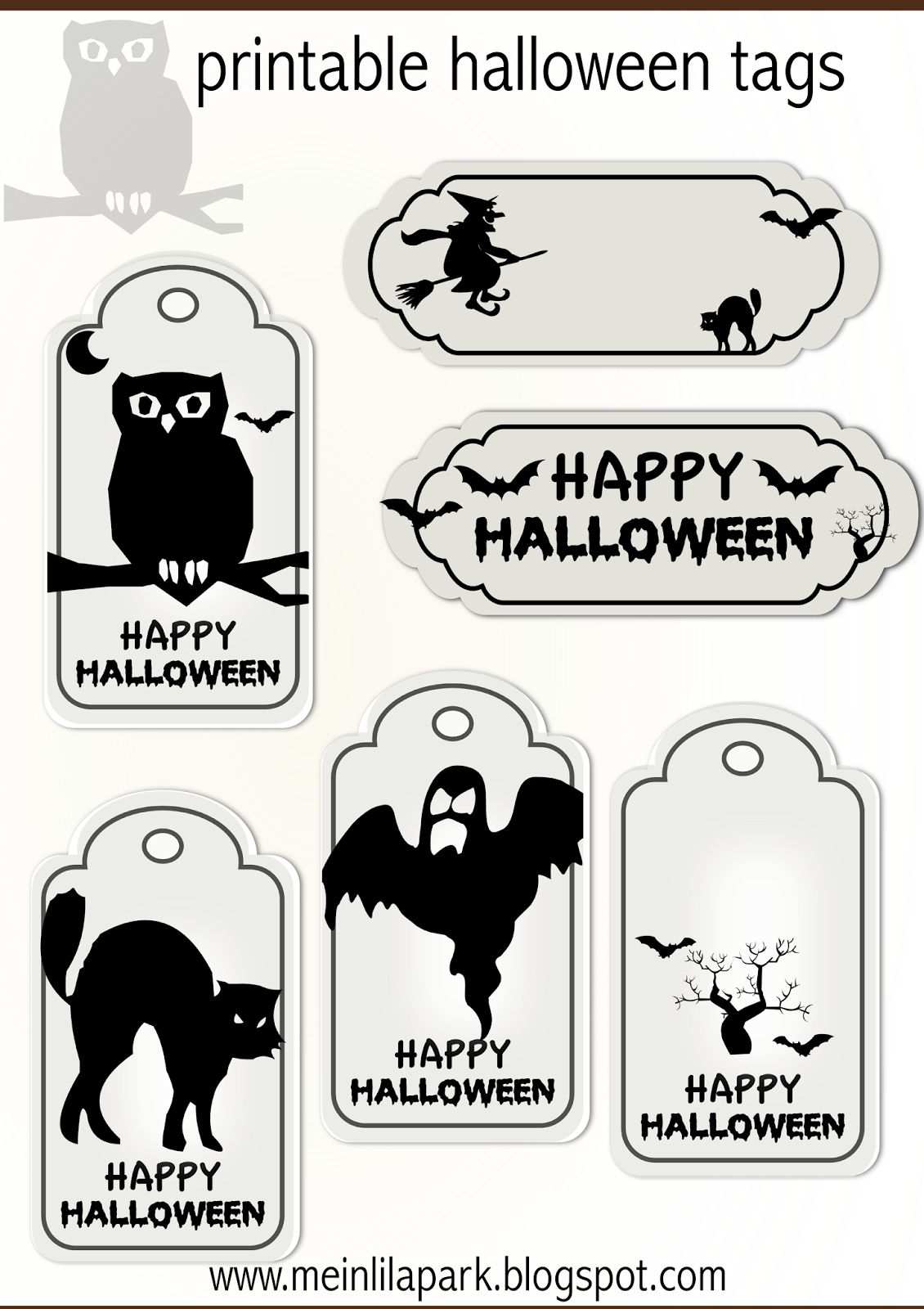 Free Printable Halloween Tags - Druckvorlage Halloween - Freebie - Free Printable Halloween Decorations