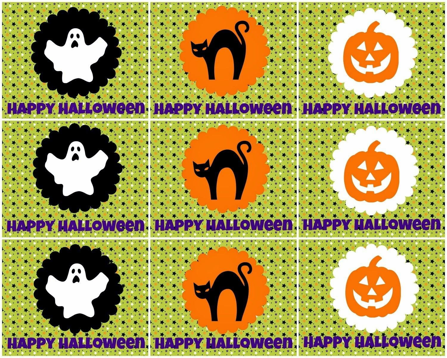 Free Printable Halloween Tags -- For Treat Bags, Labels, And More - Free Printable Halloween Labels For Treat Bags