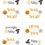 Free Printable Halloween Treat Bag Topper | Simply Happy Mama   Free Printable Trick Or Treat Bags