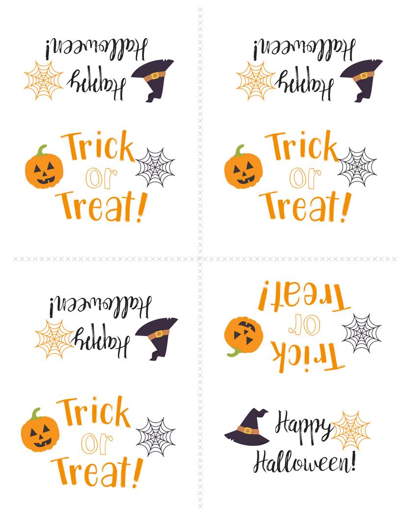 Free Printable Halloween Treat Bag Topper | Simply Happy Mama - Free Printable Trick Or Treat Bags