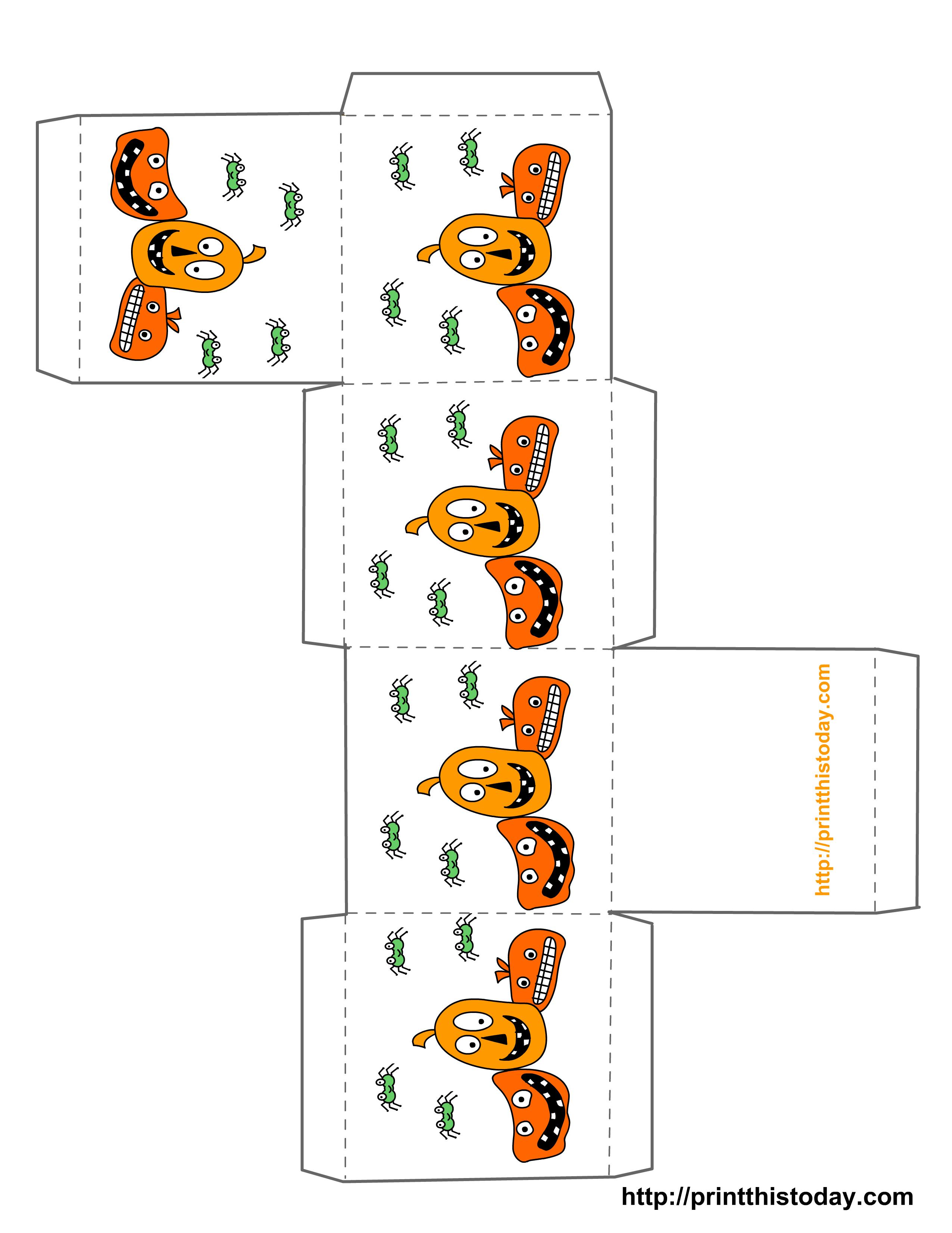 Free Printable Halloween Treat Boxes Templates - Free Printable Halloween Paper Crafts