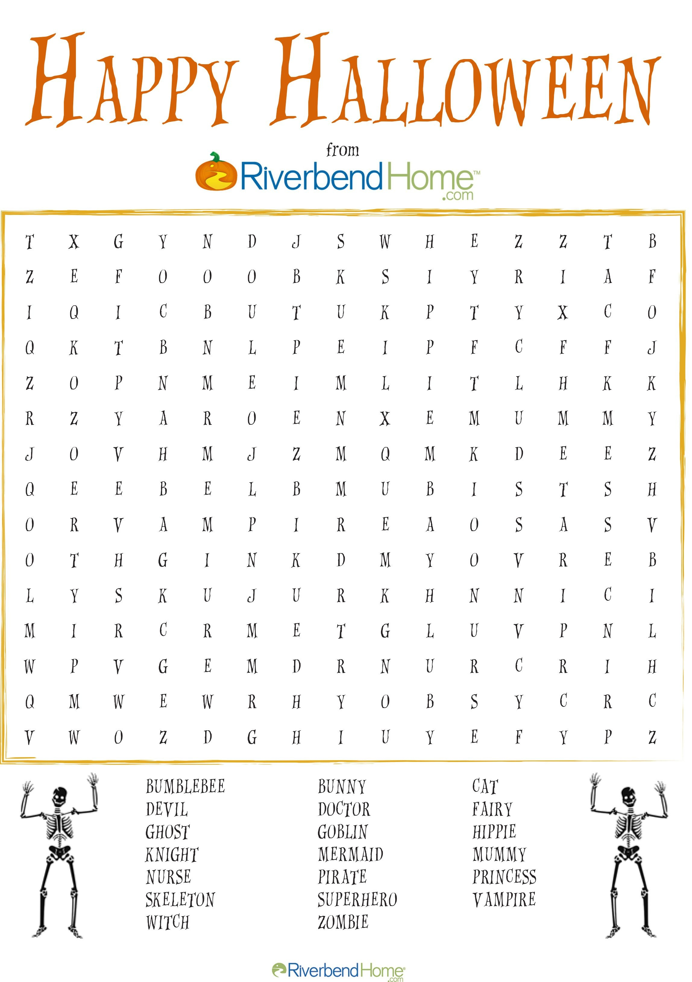 Free Printable Halloween Word Search Puzzle   Halloween   Halloween - Free Printable Halloween Word Search