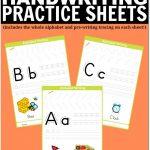 Free Printable Handwriting Worksheets Including Pre Writing Practice   Free Printable Writing Sheets