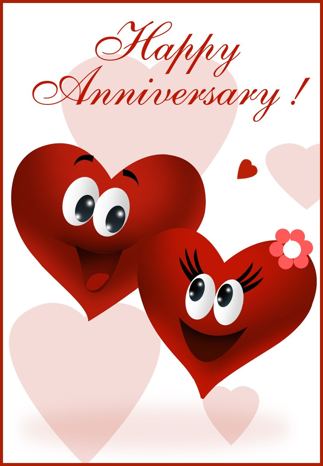 Free Printable Happy Anniversary Greeting Card | Anniversary | Happy - Printable Cards Free Anniversary