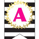 Free Printable Happy Birthday Banner And Alphabet | Black White   Free Printable Birthday Banner