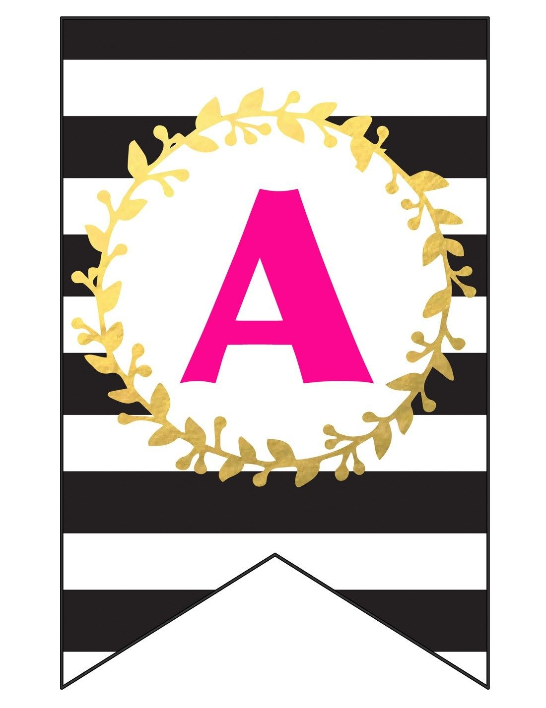 Free Printable Happy Birthday Banner And Alphabet   Black White - Free Printable Birthday Banner