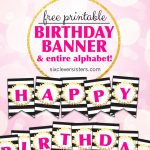 Free Printable Happy Birthday Banner And Alphabet   Six Clever Sisters   Free Happy Birthday Printable Letters