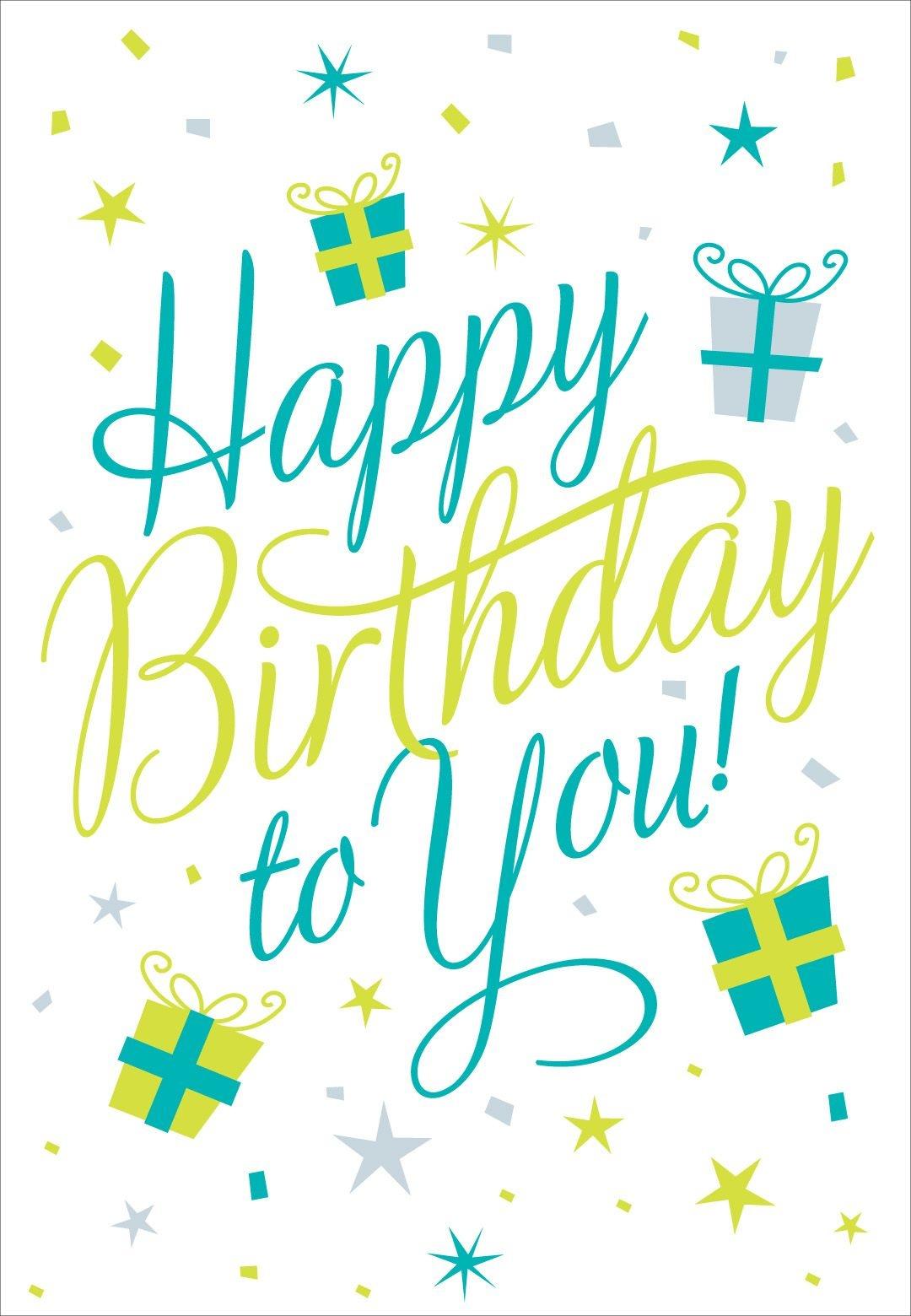 Free Printable Happy Birthday To You Greeting Card #birthday - Free Printable Happy Birthday Cards