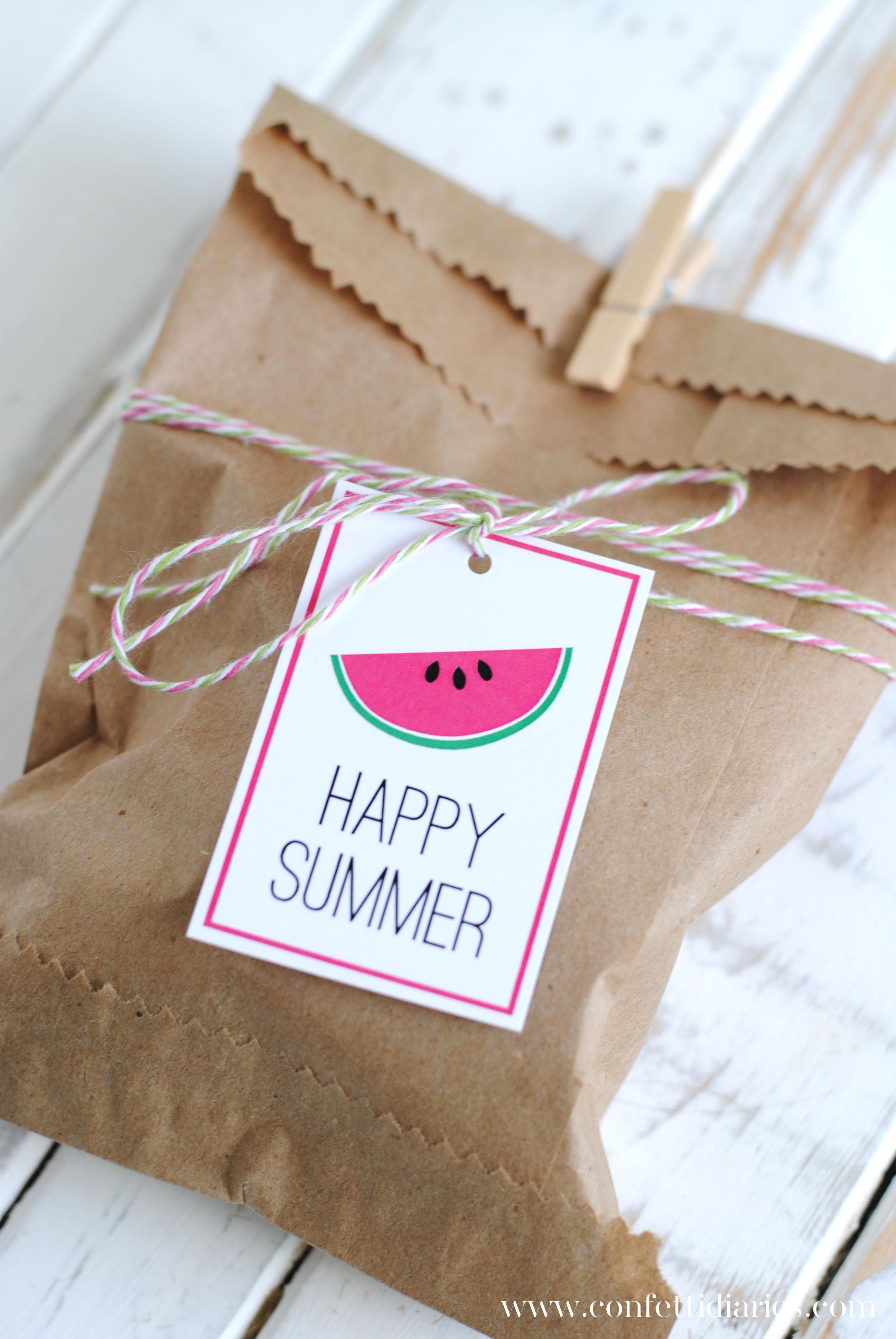 Free Printable Happy Summer Gift Tags - Katarina's Paperie - Free Printable Goodie Bag Tags