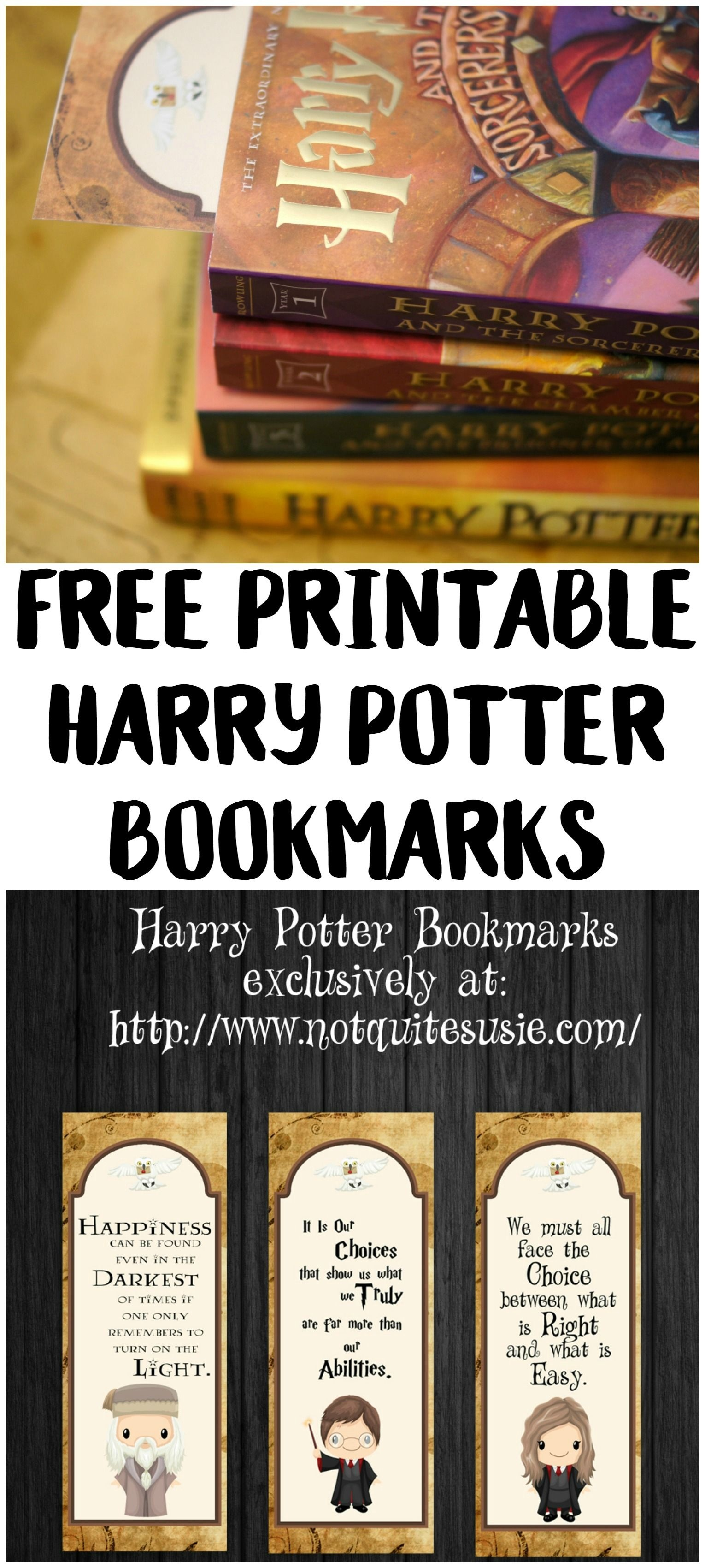 Free Printable Harry Potter Bookmarks | {Not Quite} Susie Homemaker - Free Printable Harry Potter Pictures