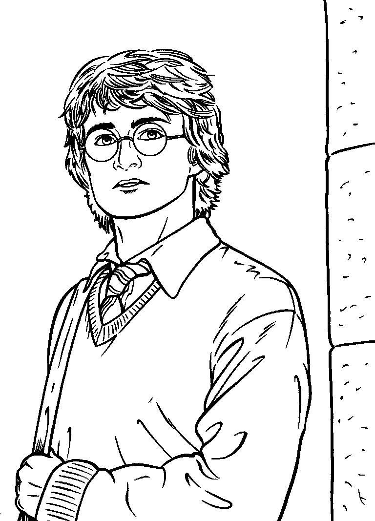 Free Printable Harry Potter Coloring Pages For Kids | Harry Potter - Free Printable Harry Potter Coloring Pages