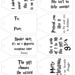 Free Printable Harry Potter Gift Tags For Christmas   Lovely Planner   Christmas Gift Tags Free Printable Black And White