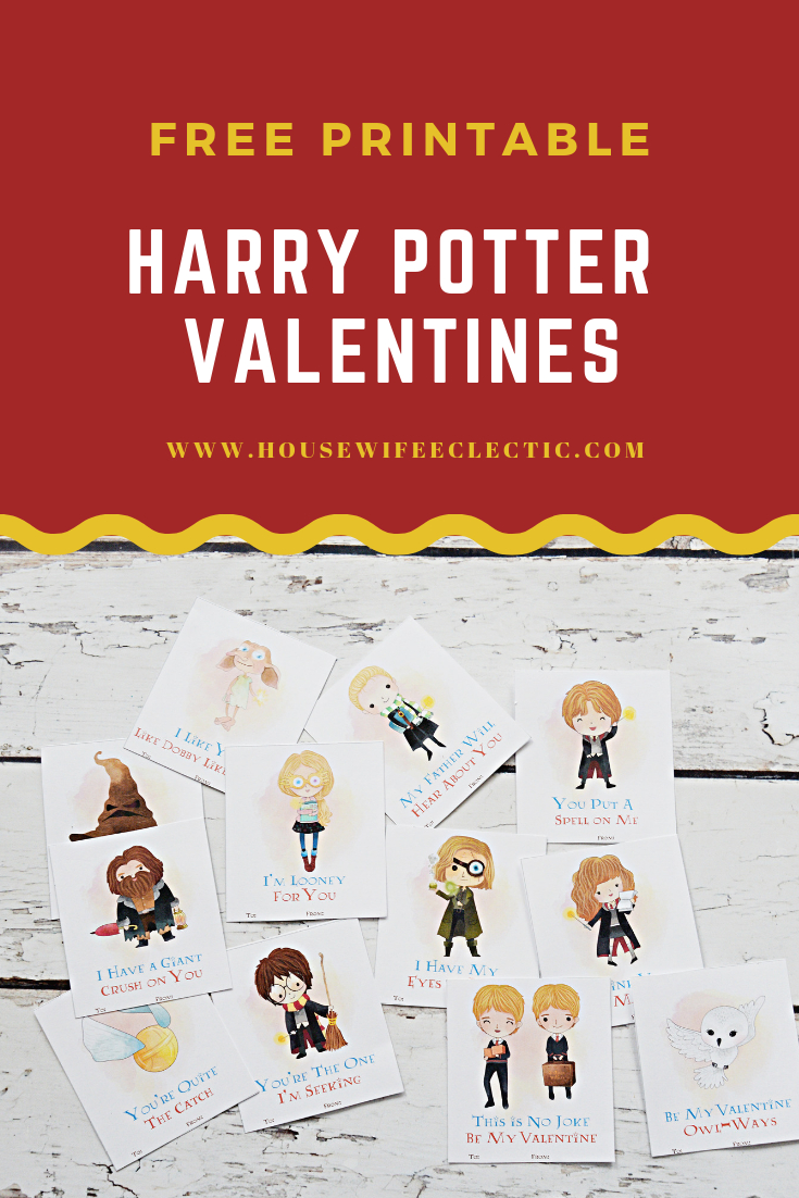 Free Printable Harry Potter Valentines - Housewife Eclectic - Free Printable Harry Potter Pictures