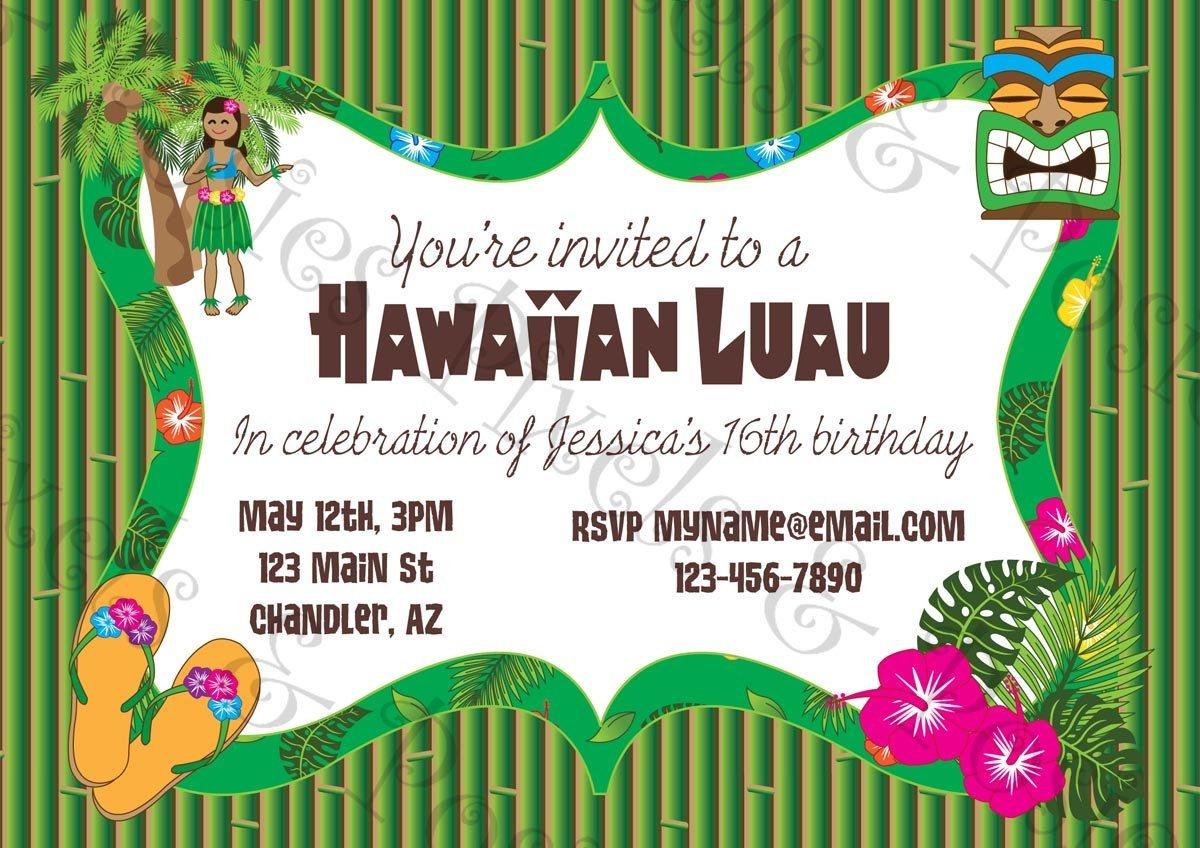 Free Printable Hawaiian Luau Party Invitationsfree Printable - Free Luau Printables