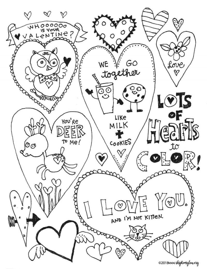 Free Printable Heart Coloring Pages 800×1035 16 Free Valentines Day - Free Printable Valentines Day Coloring Pages