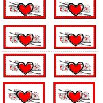 Free Printable Hearts Labels   Free Printable Heart Labels