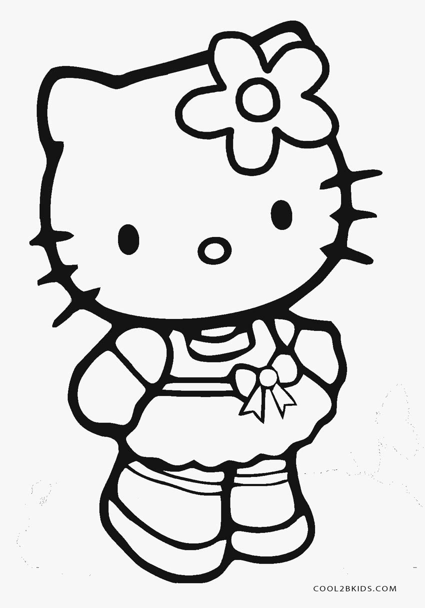 Free Printable Hello Kitty Coloring Pages For Pages   Cool2Bkids - Free Printable Hello Kitty Pictures