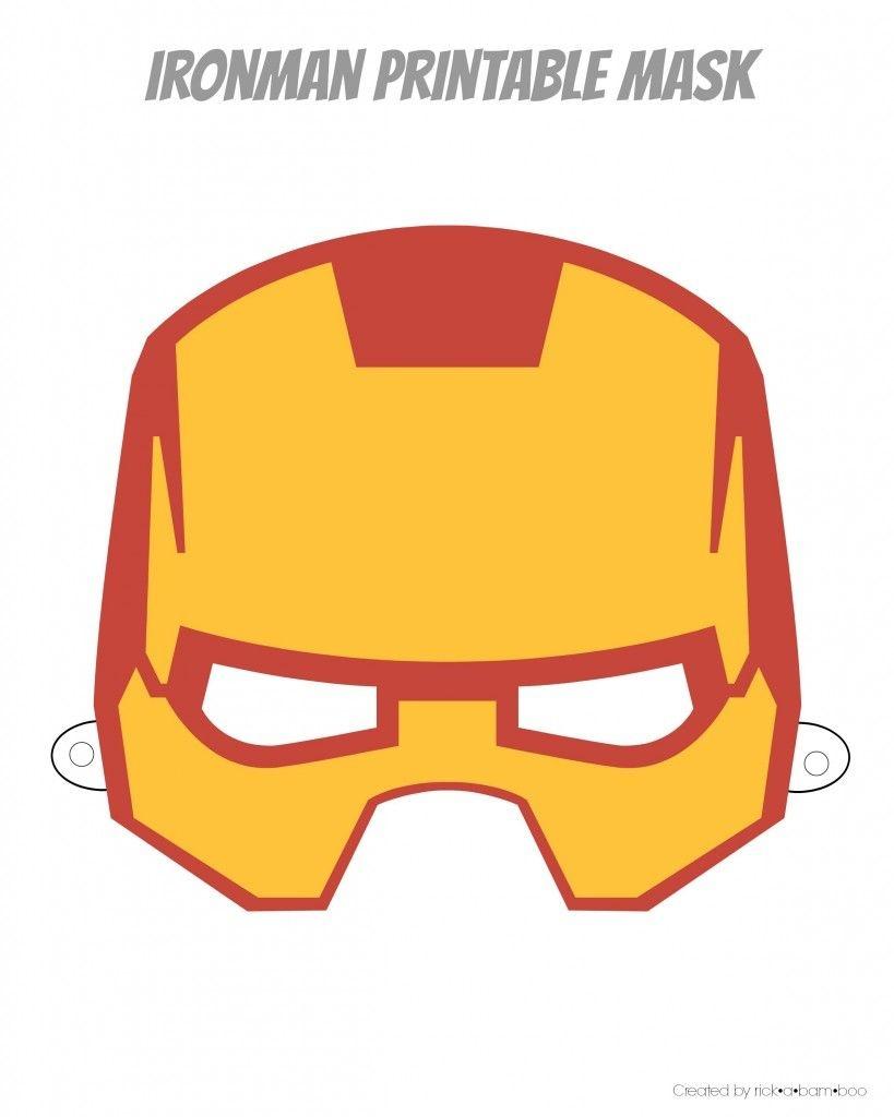 Free Printable Hero Masks | Iron Man Birthday | Superhero Mask - Free Printable Ironman Mask