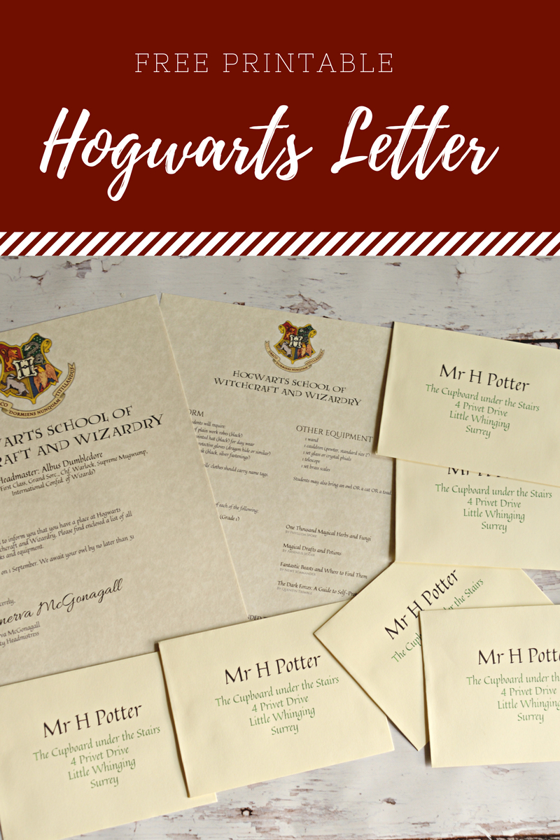 Free Printable Hogwarts Letter - Housewife Eclectic - Free Harry Potter Printables