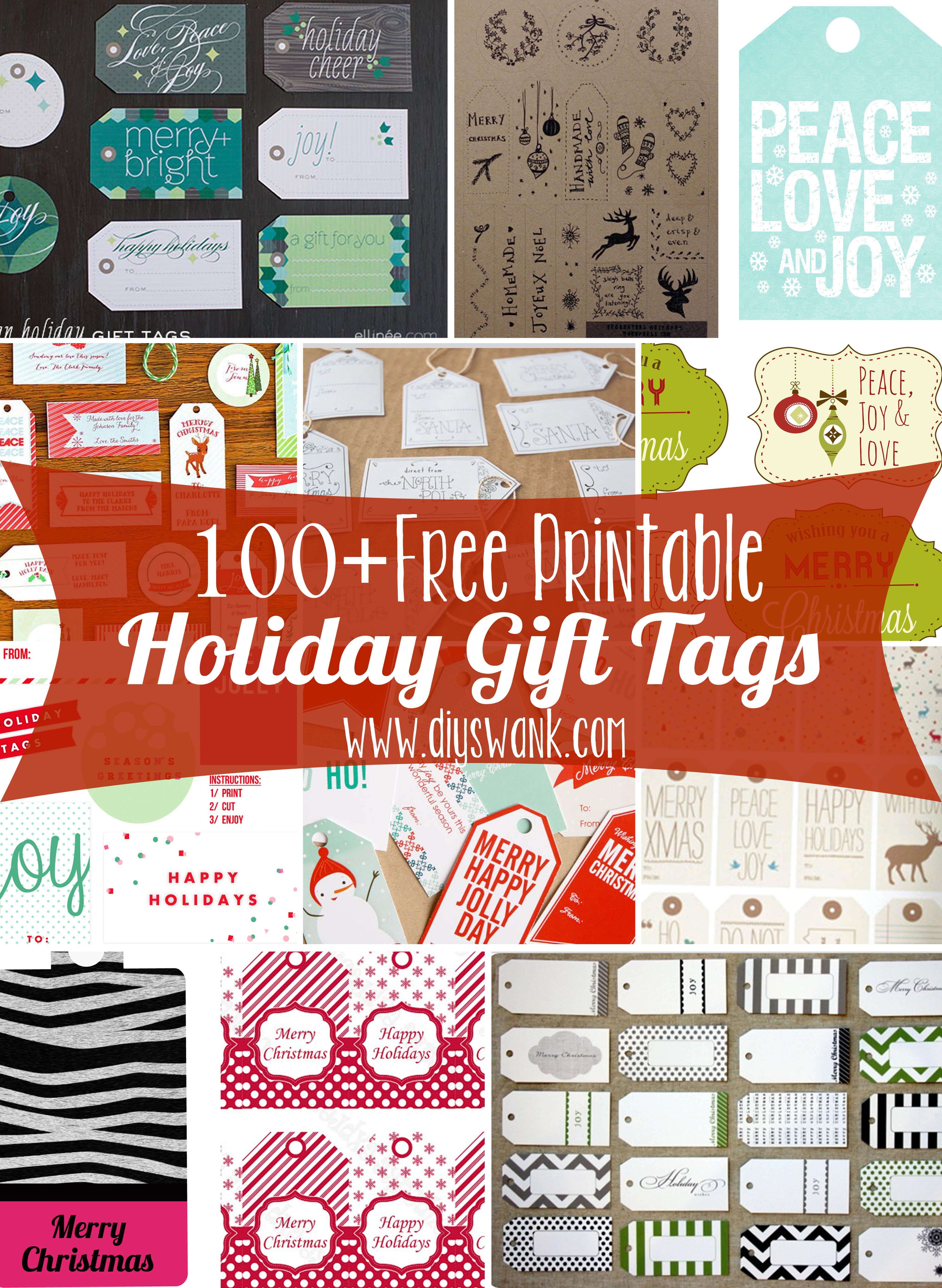 Free Printable Holiday Gift Tags - Diy Christmas Gift Tags Free Printable