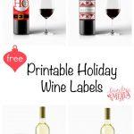 Free Printable Holiday Wine Labels | Printables | Christmas Wine   Free Printable Wine Labels