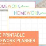 Free Printable: Homework Planner   Free Printable Homework Templates
