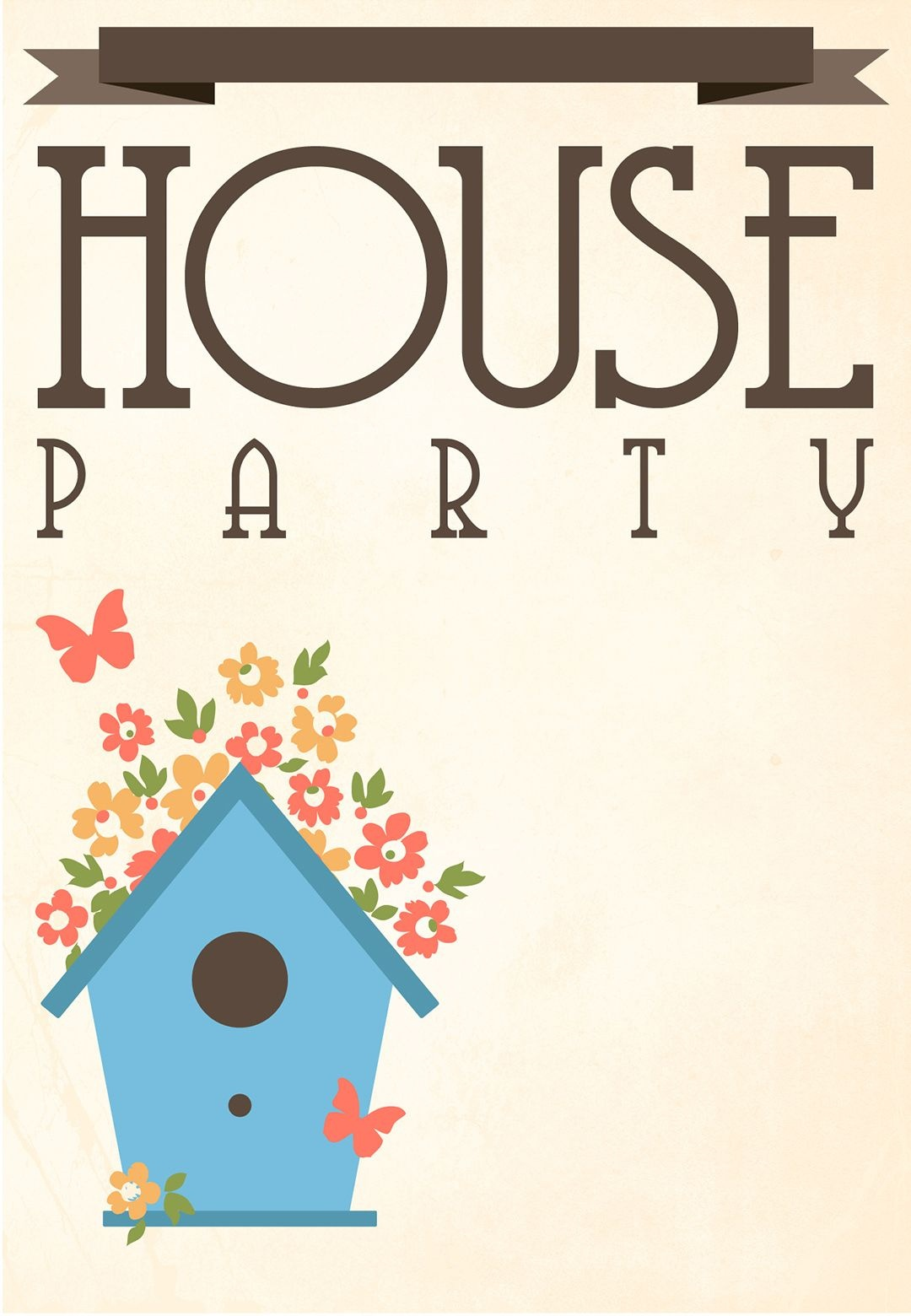 Free Printable House Party Invitation   Fonts/printables/templates - Free Printable Housewarming Invitations Cards