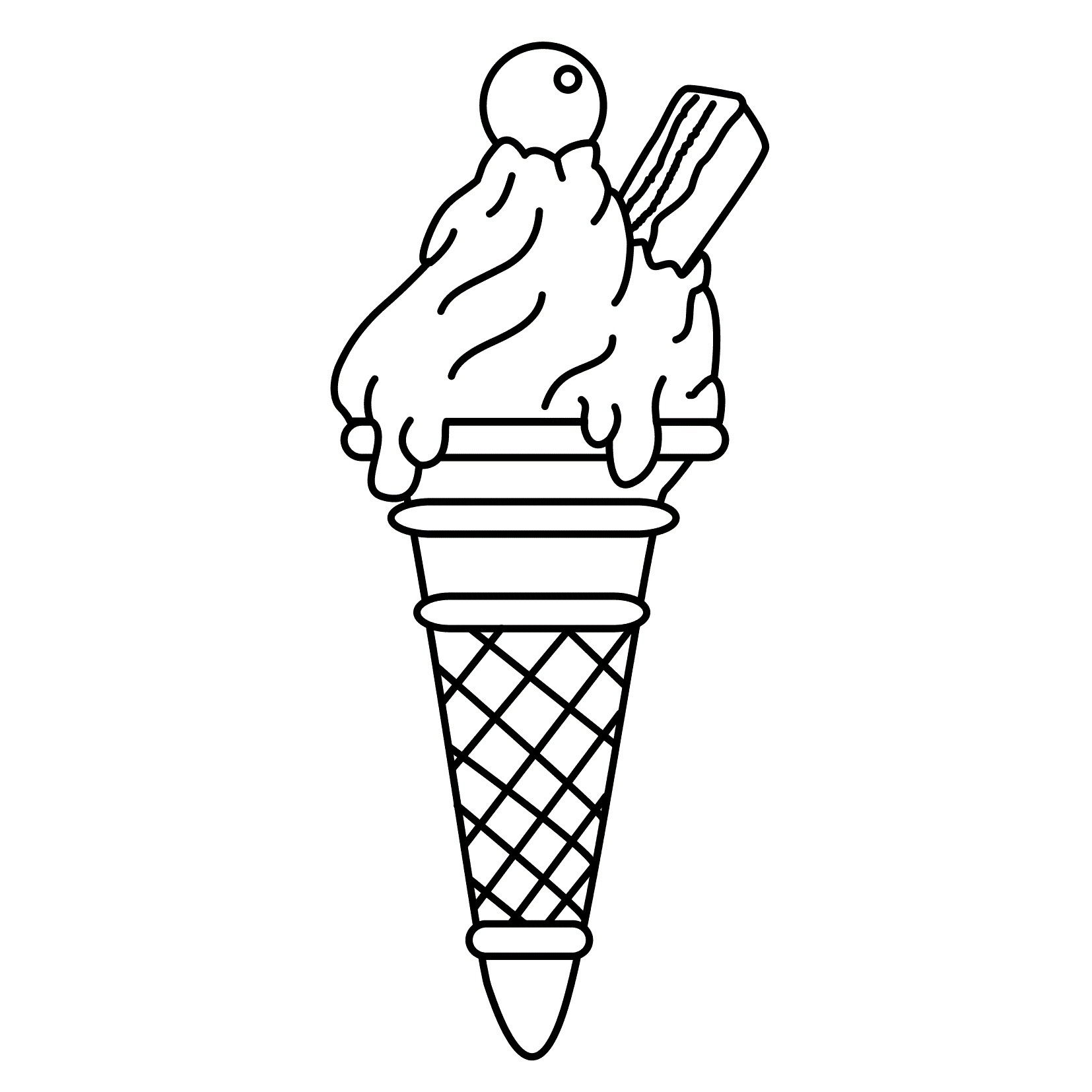 Free Printable Ice Cream Coloring Pages For Kids - Ice Cream Cone Template Free Printable
