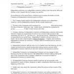 Free Printable Independent Contractor Agreement   Printable Agreements   Free Printable Independent Contractor Agreement
