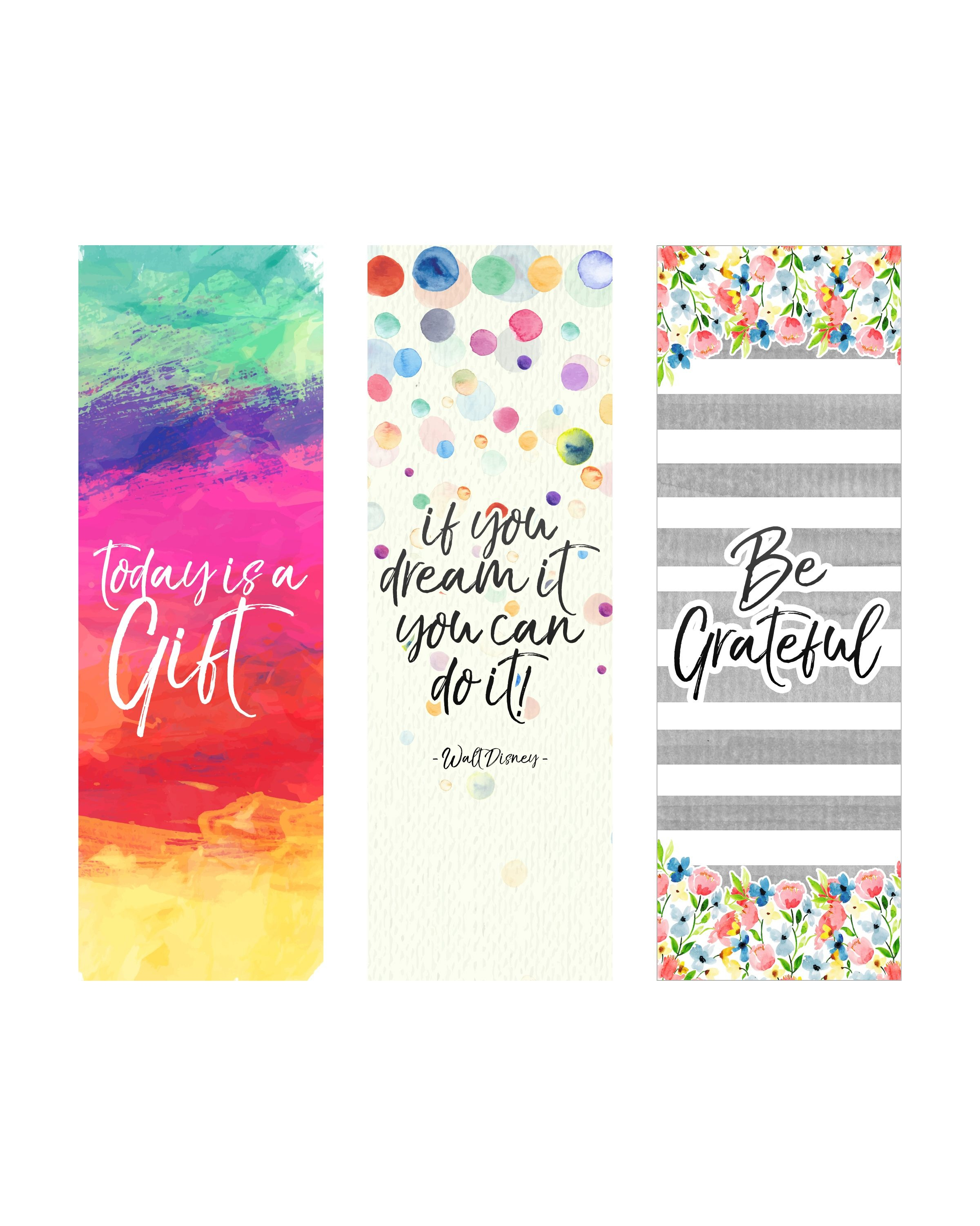 Free Printable Inspirational Quote Bookmarks   Crafts, Misc - Free Printable Book Marks