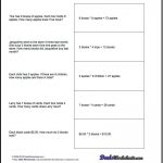 Free Printable Introductory Word Problem Worksheets For Addition For   Free Printable Math Worksheets Word Problems First Grade