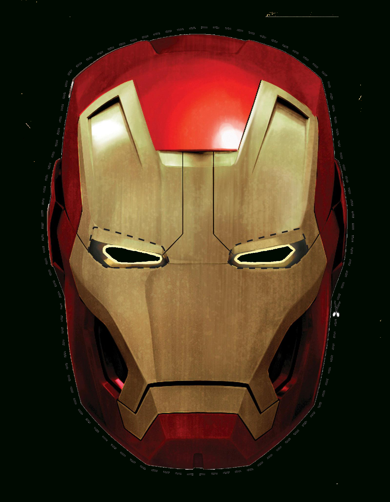 Free Printable Iron Man Mask. - Oh My Fiesta! For Geeks - Free Printable Ironman Mask