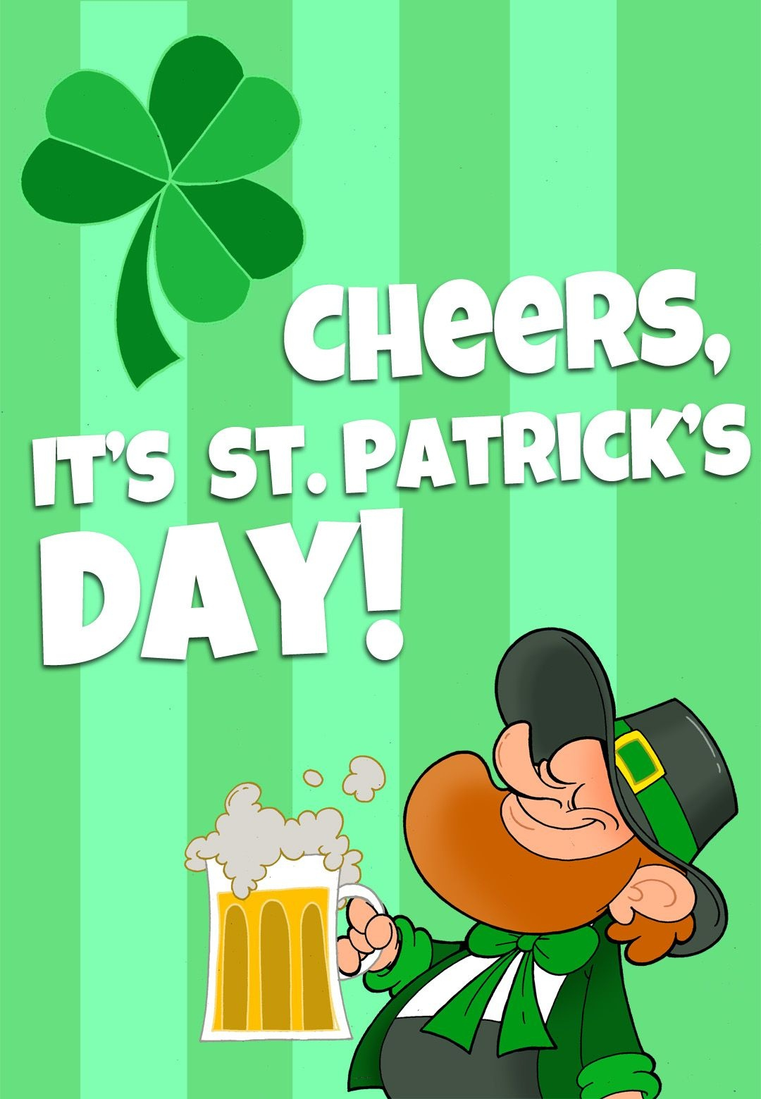 Free Printable 'its St Patricks Day' Greeting Card | Printable St - Free Printable St Patrick's Day Greeting Cards
