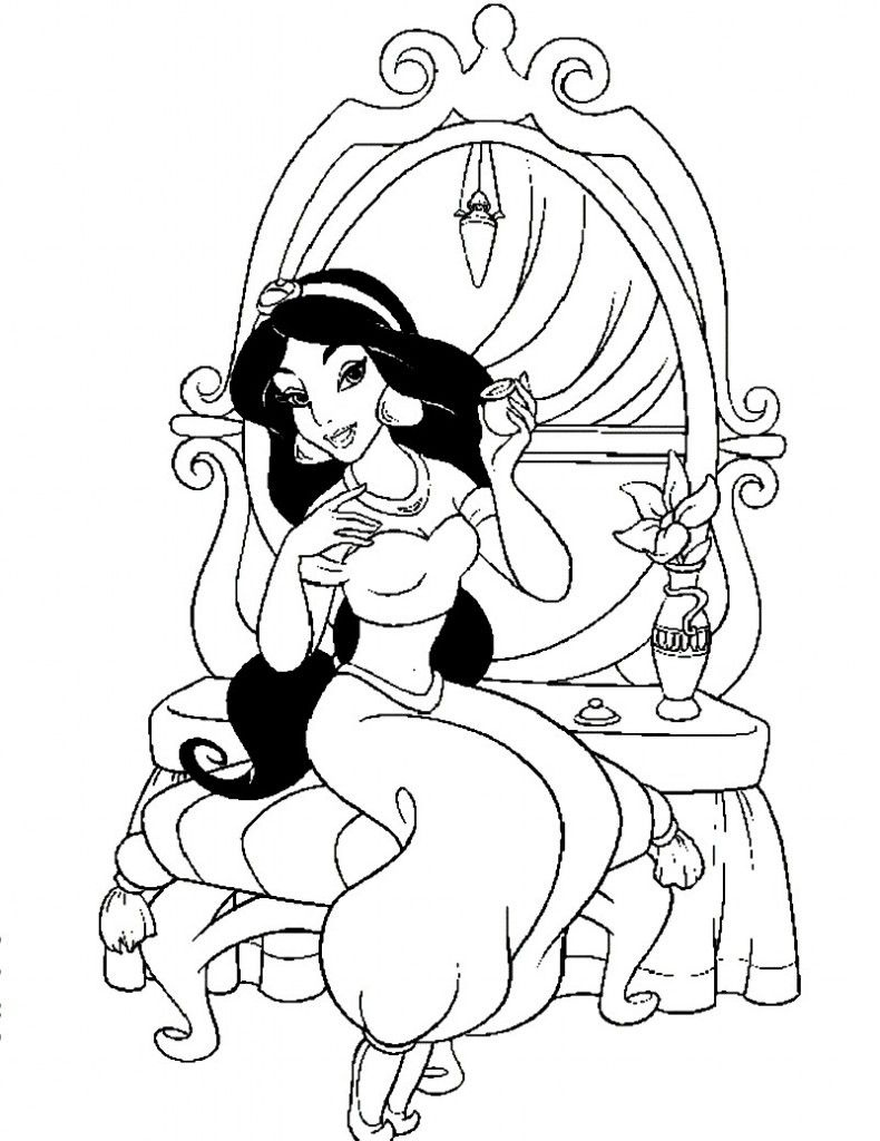 Free Printable Jasmine Coloring Pages For Kids | Disney Coloring - Free Printable Princess Jasmine Coloring Pages