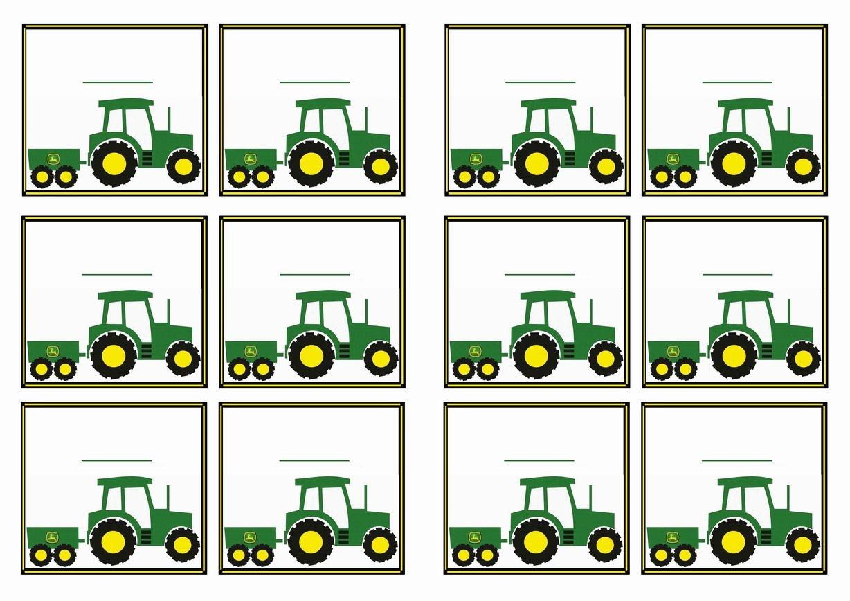 Free Printable John Deer Tractor Themed Name Tags   Themed Name Tags - Free Printable John Deere Birthday Invitations