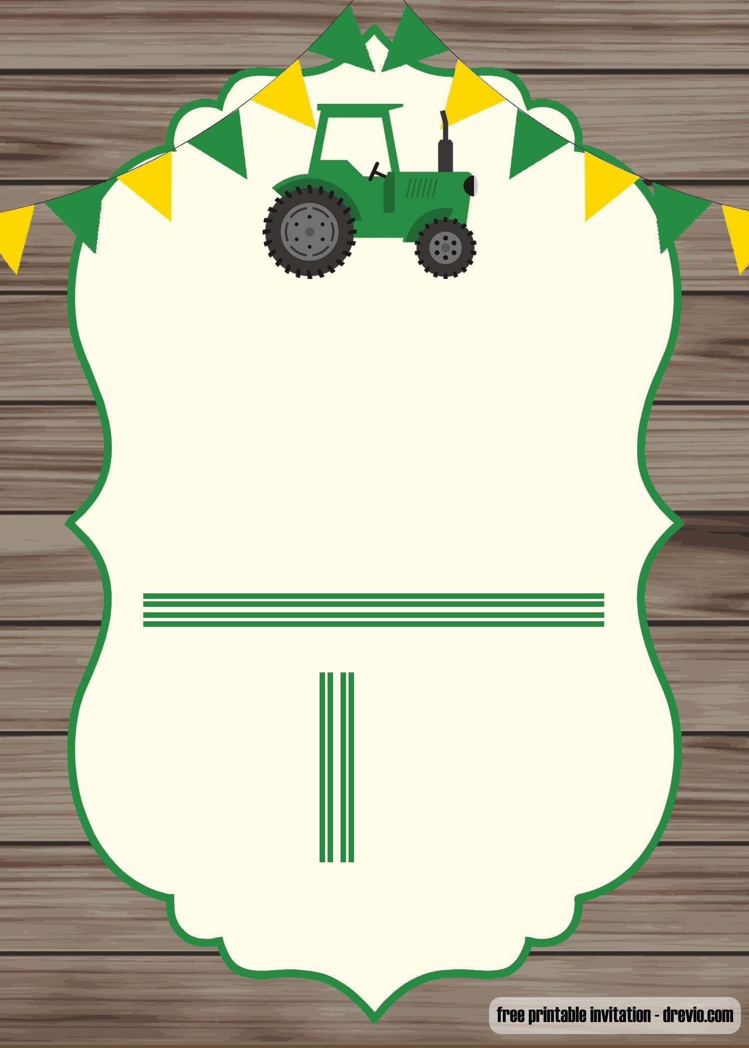 Free Printable John Deere Invitation Template   Baby 3!   Free - Free Printable John Deere Birthday Invitations