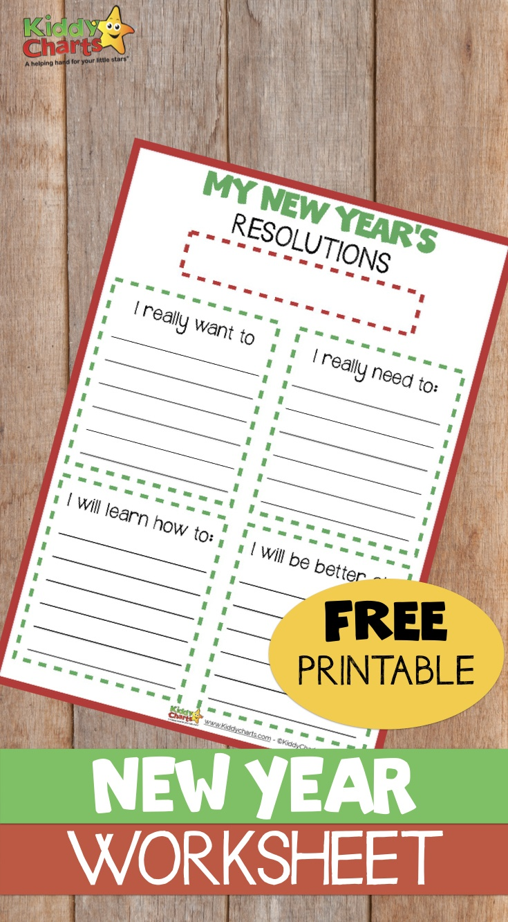 Free Printable Kids' New Year's Resolution Worksheet - Free New Year's Resolution Printables