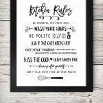 Free Printable Kitchen Signs | Printables | Kitchen Decor, Kitchen   Free Printable Funny Posters