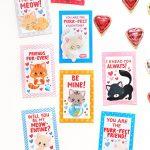 Free Printable Kitten Valentines   Scattered Thoughts Of A Crafty   Free Printable Cat Valentine Cards