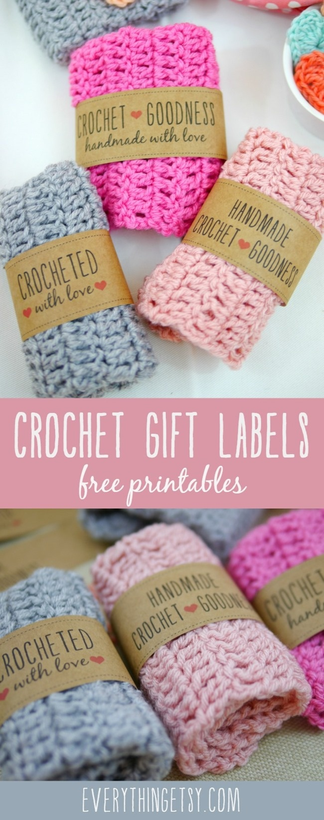 Free Printable Knit Gift Labels - Everythingetsy - Free Printable Knitting Labels